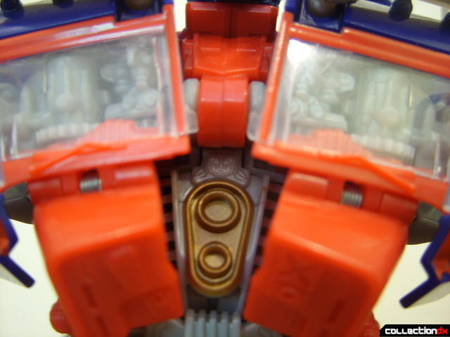 Leader-class Autobot Optimus Prime- robot mode (note tiny Autobot symbol in center of chest)