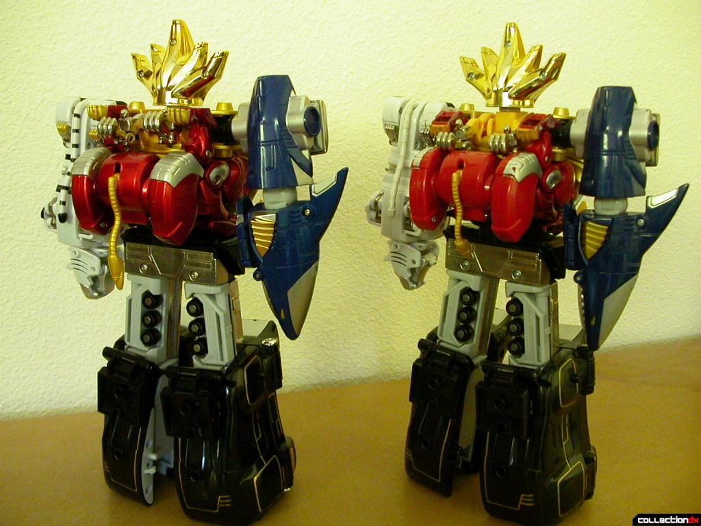 DX Hyakujuu Gattai Gao King --VS-- Deluxe Wild Force Megazord (back)