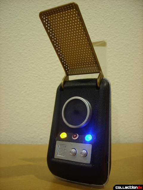 TOS Communicator (front, with lights on)