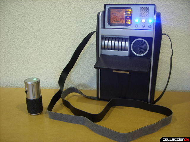 Classic Science Tricorder (with lights and Science Scanner on)
