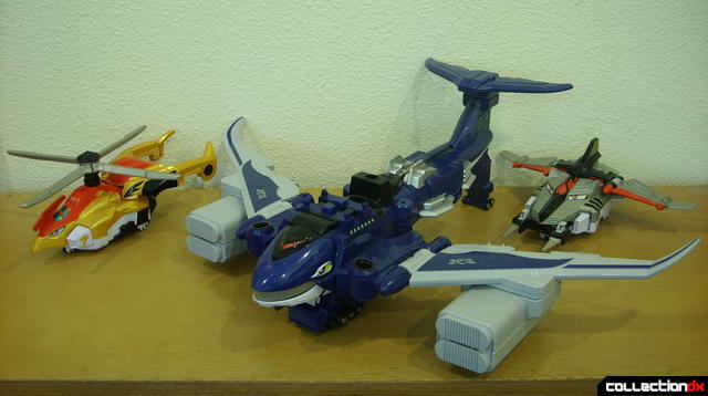 (L to R) Engines Toripter, Jumbwhale, and Jettoras