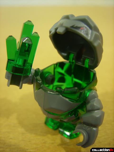 Mine Mech- rock monster minifig (eating a power crystal)