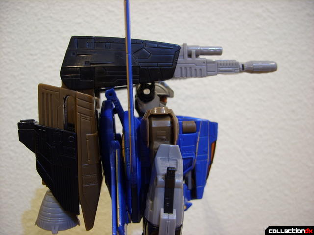 Autobot Tread Bolt with armor- robot mode (booster cannons in lowered position)