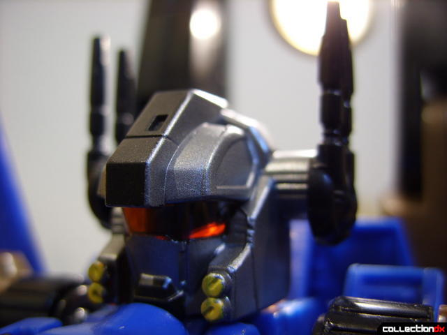 Autobot Tread Bolt with armor- robot mode (lit from behind)