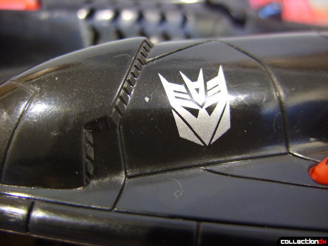 Decepticon Skyfall- vehicle mode (Decepticon logo on left engine hoousing)