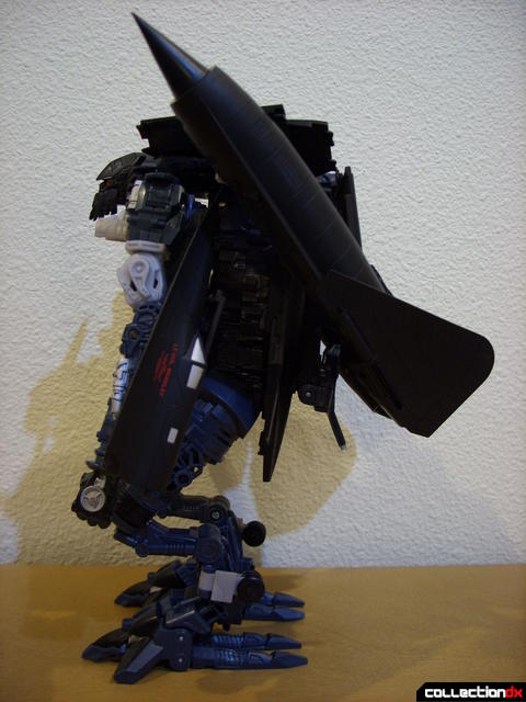 RotF Leader-class Autobot Jetfire- robot mode (left profile, upright without cane)