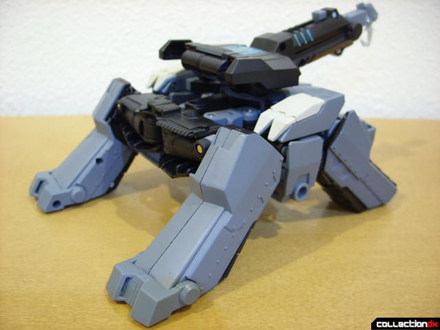 Animated Voyager-class Decepticon Shockwave- crane mode (back)