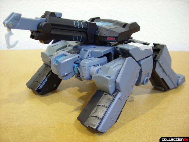 Animated Voyager-class Decepticon Shockwave- crane mode (front)