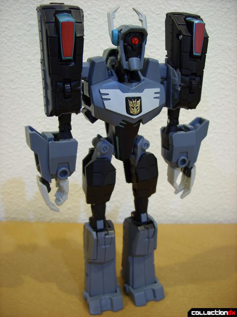 Animated Voyager-class Decepticon Shockwave- Shockwave form (front)