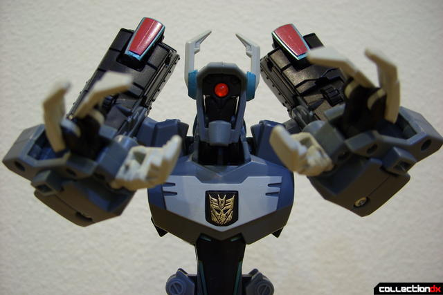 Animated Voyager-class Decepticon Shockwave- Shockwave form posed (1)