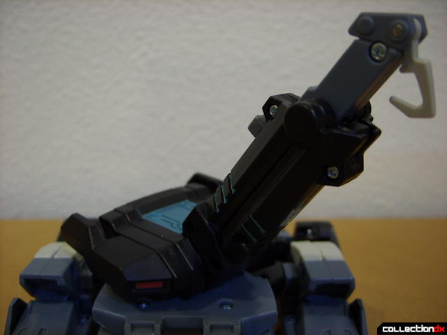 Animated Voyager-class Decepticon Shockwave- crane mode (boom detail)