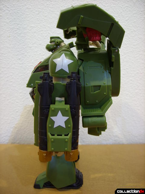 Animated Leader-class Autobot Bulkhead- robot mode (left profile)