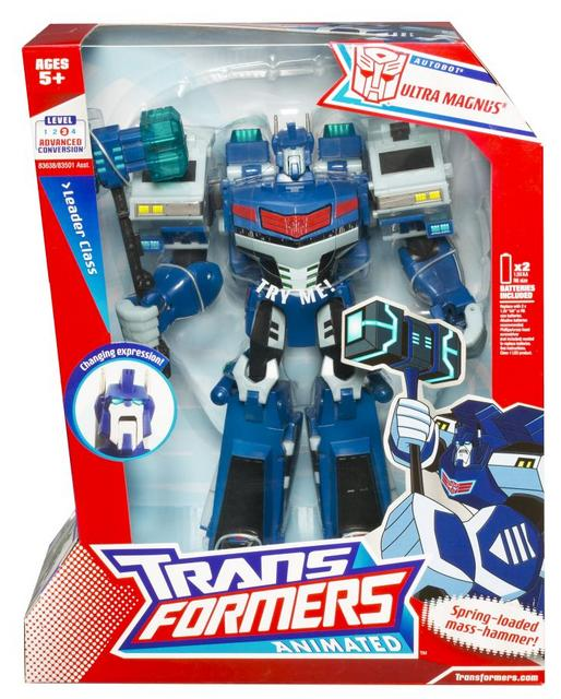 Animated Leader-class Autobot Ultra Magnus (box front)