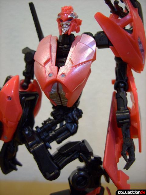 RotF Deluxe-class Autobot Arcee- robot mode (torso with S-bend waist)