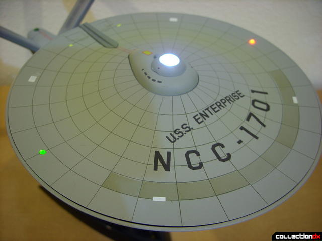 Starship Legends U.S.S. Enterprise HD ver. (saucer dorsal view, lights on)