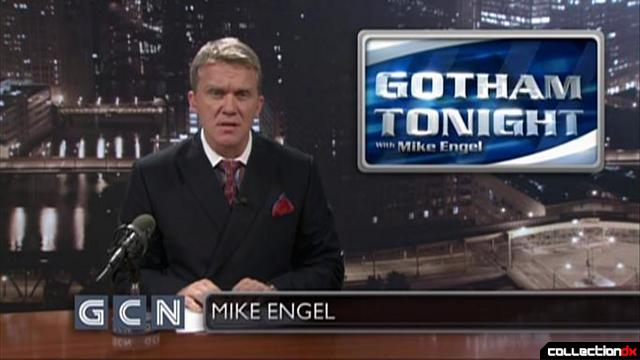 Gotham Tonight anchor Mike Engle (Anthony Michael Hall) as seen in bonus DVD featurette