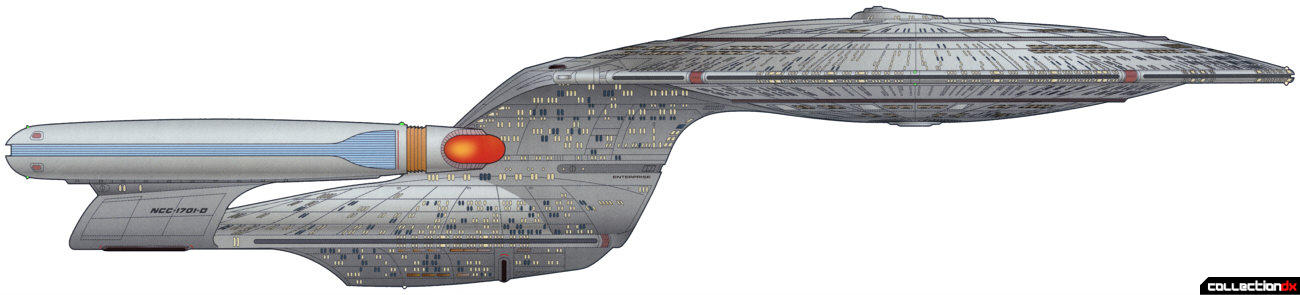 U.S.S. Enterprise-D - starboard profile (official schematic artwork)