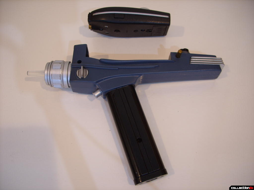 Trek Tek TOS Black Handle Phaser- Type I (top) and Type II (bottom)