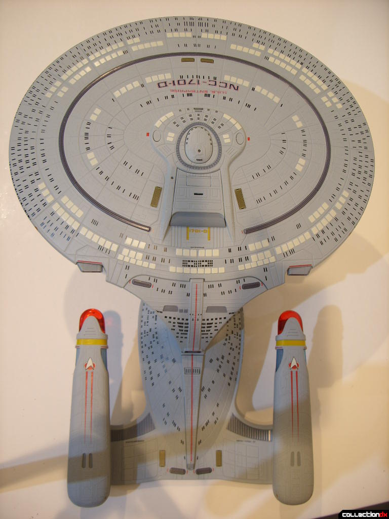 Starship Legends U.S.S. Enterprise-D (dorsal profile)