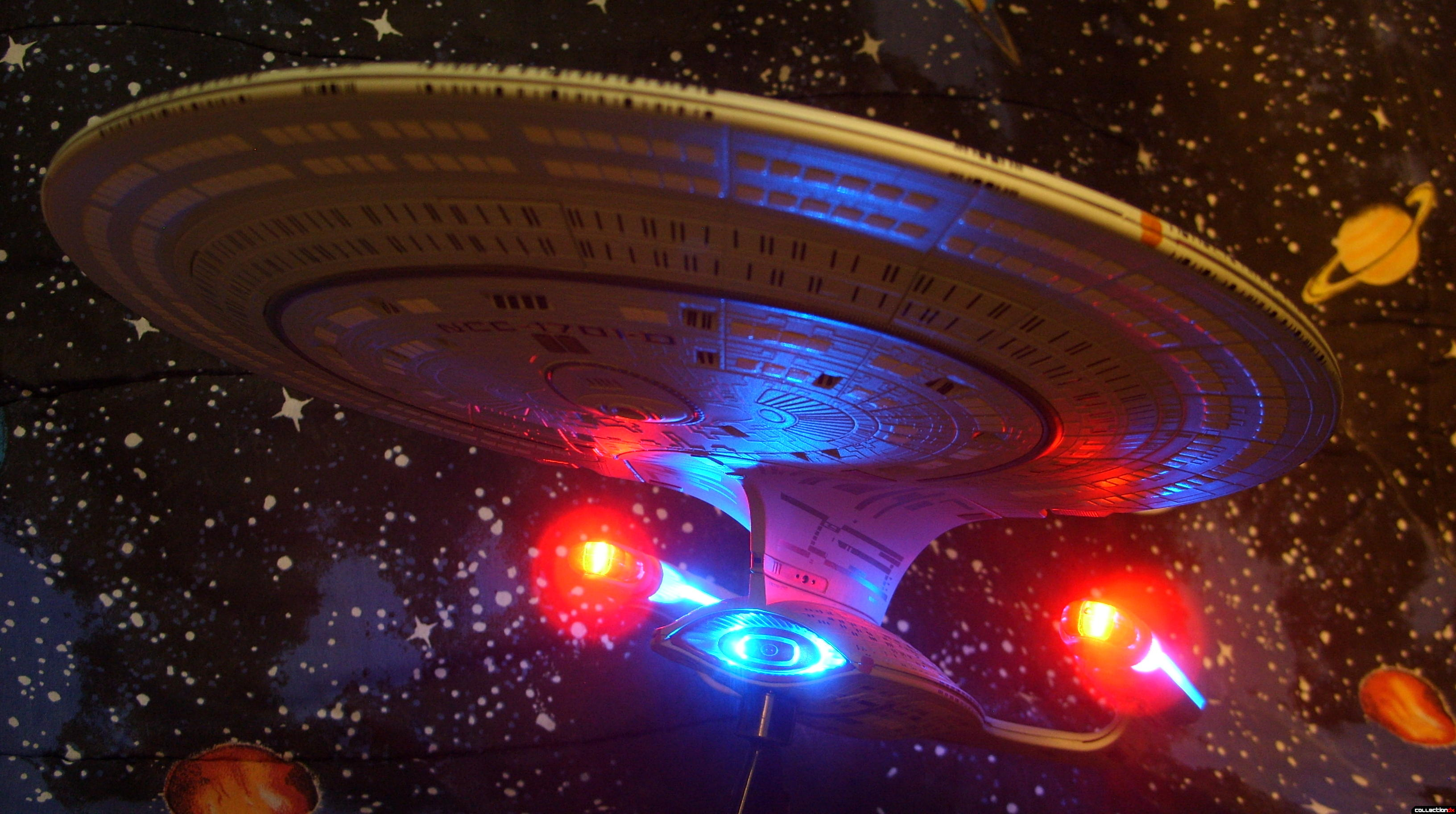 Starship Legends U.S.S. Enterprise-D (dramatic angle, against starfield)