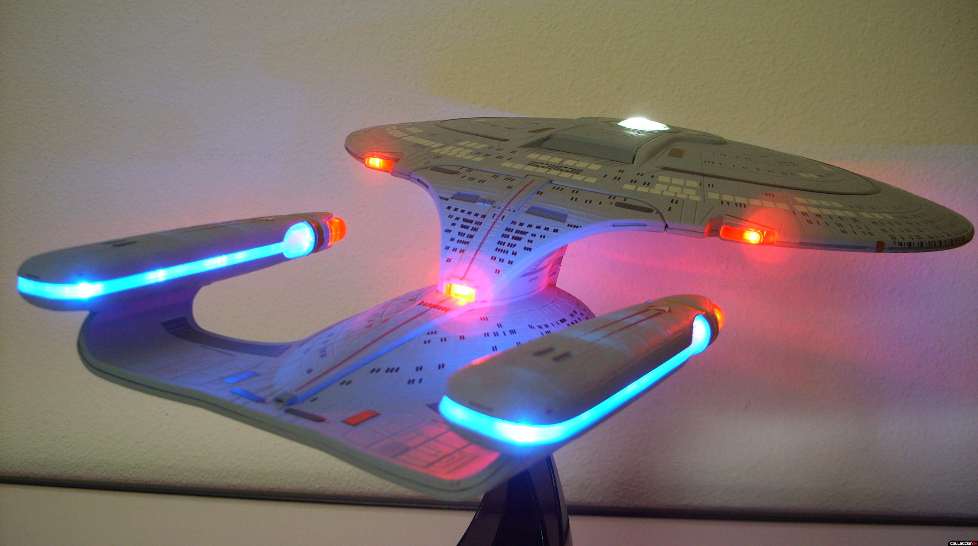 Starship Legends U.S.S. Enterprise-D (dramatic angle, starboard-aft)