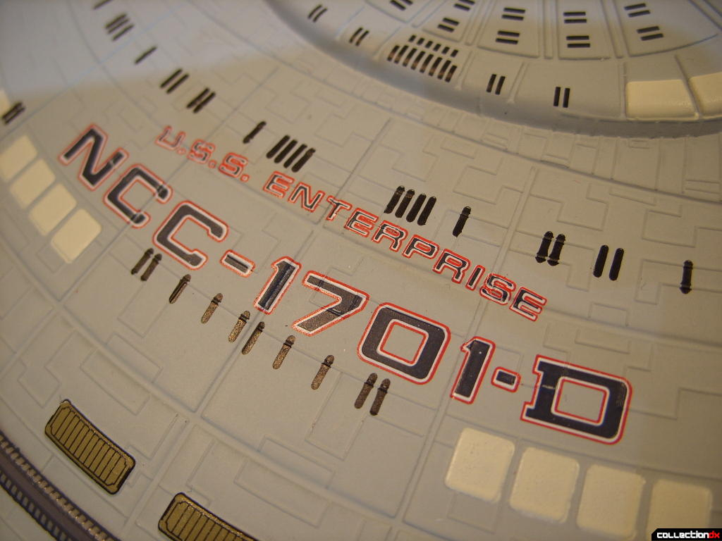 Starship Legends U.S.S. Enterprise-D (name and registery number)