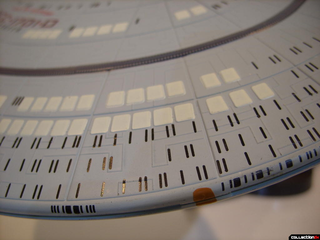 Starship Legends U.S.S. Enterprise-D (saucer detail, top)