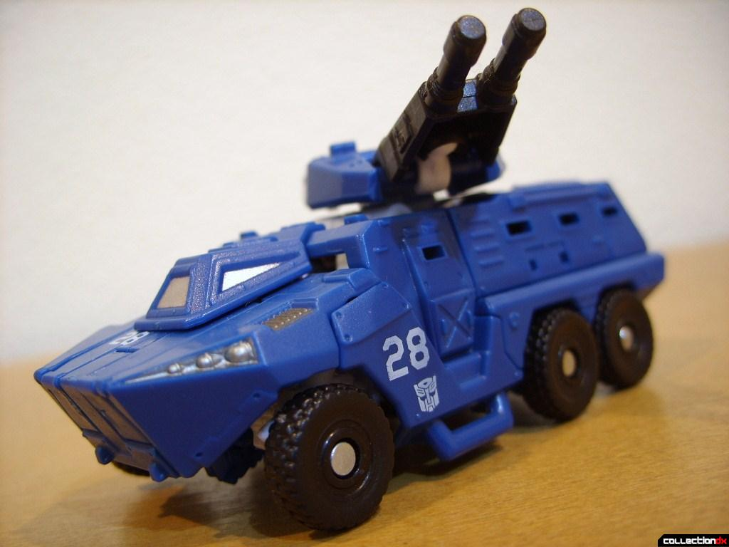 Scout-class Autobot Breacher- Vehicle Mode dramatic angle