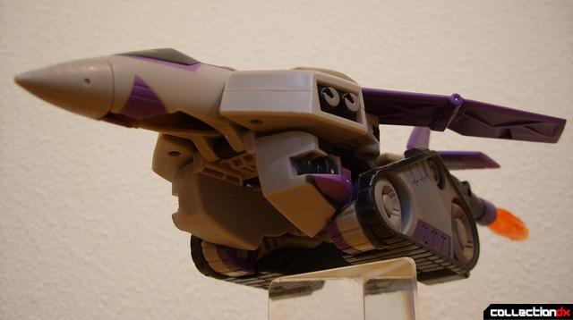 Voyager-class Decepticon Blitzwing- jet mode (dramatic angle)