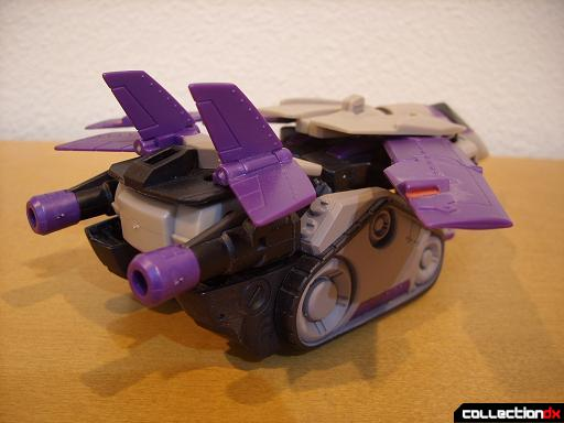 Voyager-class Decepticon Blitzwing- jet mode (back)