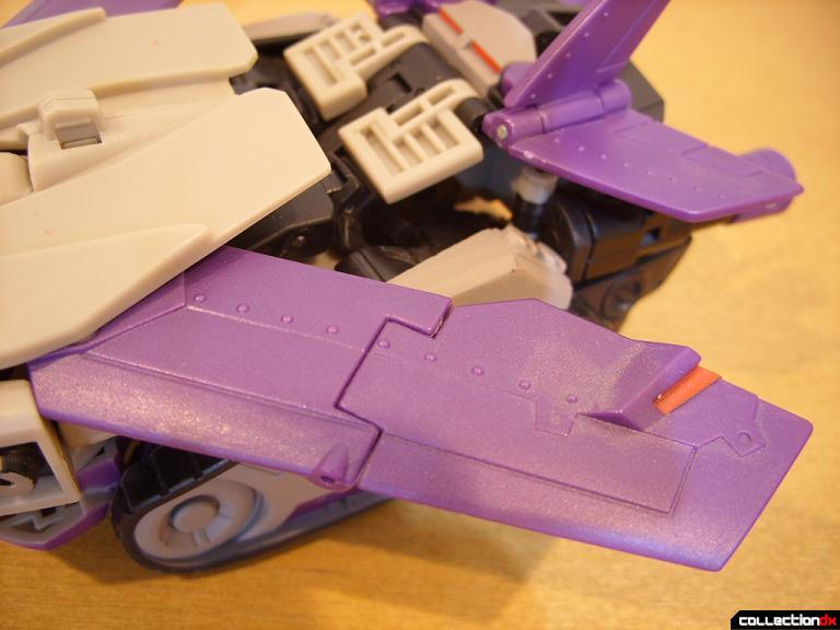 Voyager-class Decepticon Blitzwing- jet mode (left wing)