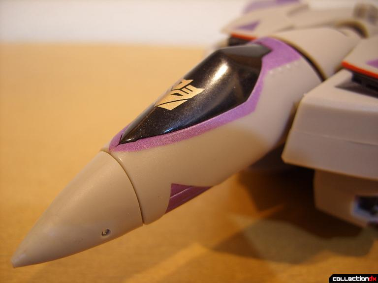 Voyager-class Decepticon Blitzwing- jet mode (nose)