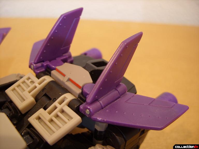 Voyager-class Decepticon Blitzwing- jet mode (tails and vertical stabilizers)