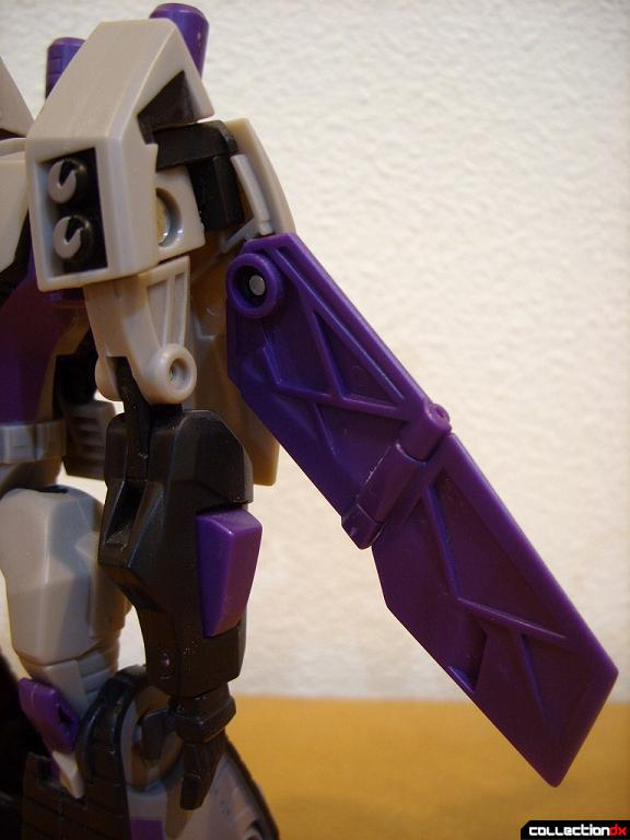 Voyager-class Decepticon Blitzwing- robot mode (left arm)
