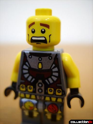 Seabed Strider - Axel Storm minifig (scared face)