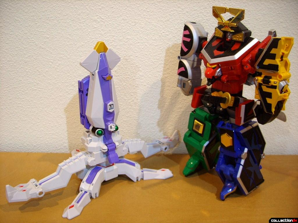 Ika Origami (L) and DX Shinken-Oh (R)