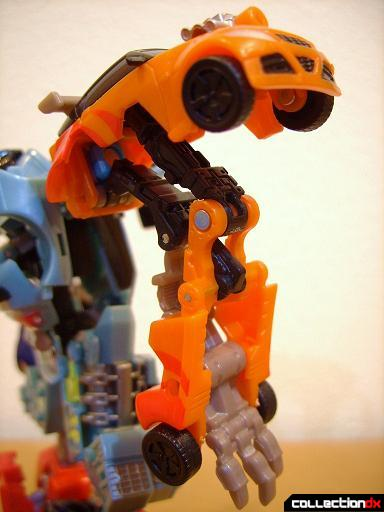 Autobot Double Clutch with Rallybots- Commander Mode (left arm, angled)