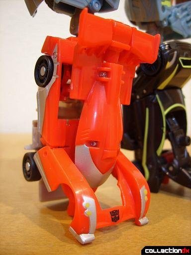 Autobot Double Clutch with Rallybots- Commander Mode (right leg, angled)