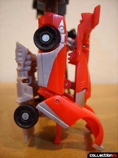 Autobot Double Clutch with Rallybots- Commander Mode (right leg, profile)