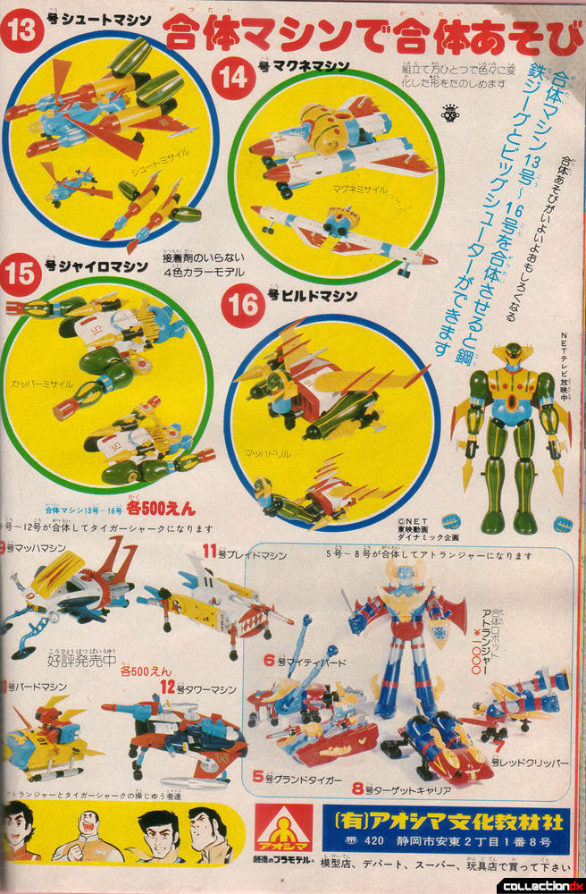 Aoshima Model Kit Ad featuring Jeeg