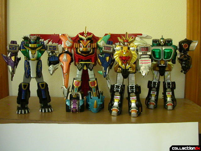 (left-to-right) DX Gao Hunter Justice, DX Gao Icarus, DX Gao King, DX Gao Muscle