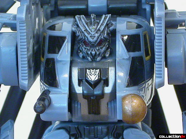 Decepticon Blackout- robot mode (chest and head detail)