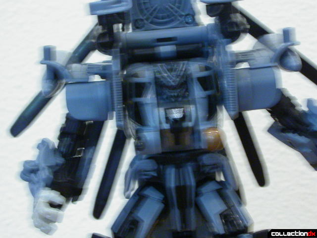 Decepticon Blackout- robot mode (upper body detail, intentionally-blurred)