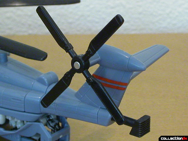 Decepticon Blackout- vehicle mode (tail rotor detail)