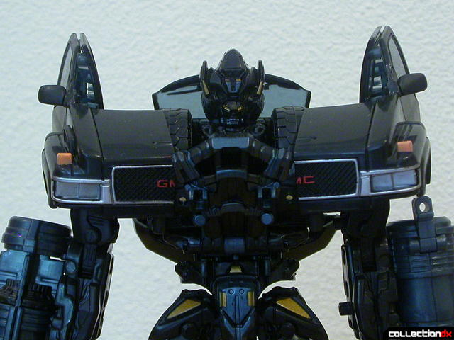 Autobot Ironhide- robot mode (shoulder armor, per instructions)