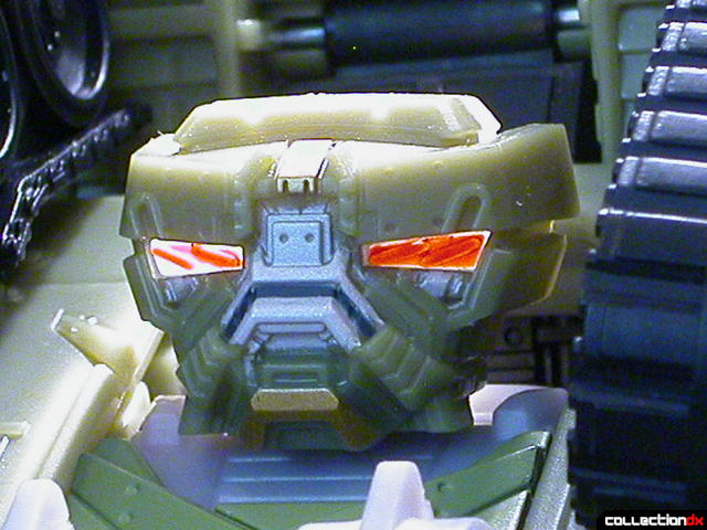 Decepticon Brawl- robot mode (head detail, eyes lit from behind)