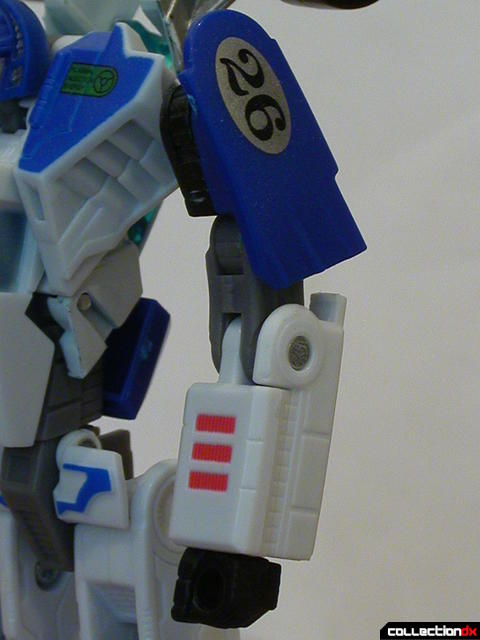 Autobot Mirage- robot mode (arm detail)