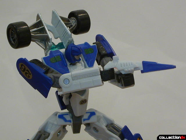 Autobot Mirage- robot mode posed (3- close up)