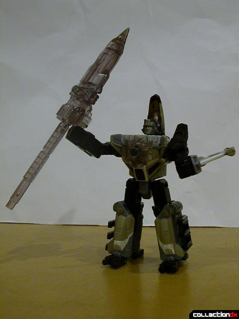 Autobot Skyblast- robot mode (posed with Energon spear)