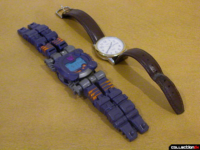 Decepticon Meantime- disguise mode (side-by-side with a real watch)